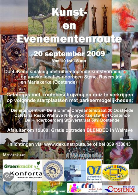 affiche kunstroute 2009
